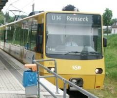 Stadtbahn U14 in Remseck